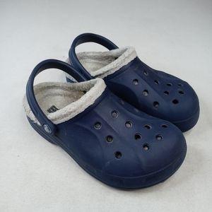 Crocs women's blue, lined winter clogs. Sz 7 women